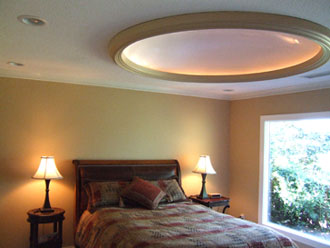 Architectural ceiling domes cove lighting design xd50c with wm300 millwork painted contrasting color aloadofball Gallery